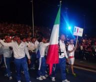 L'ingresso della delegazione italiana alla cerimonia inaugurale