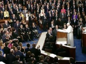 Papa Francesco pronuncia il suo discorso al Congresso degli Stati Uniti d'America