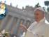 Papa Francesco con il logo del Giubileo della Misericordia