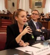 Laura Di Pietro, assessore comunale al Verde Pubblico, con il sindaco Marco Alessandrini