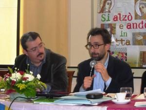 Il delegato regionale Abruzzo-Molise dell'Azione cattolica italiana Enrico Michetti e Matteo Truffelli, presidente dell'Azione cattolica italiana