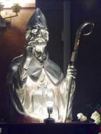 Il busto argenteo di San Cetteo che verrà collocato nella nicchia