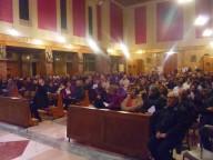 I fedeli intervenuti presso la chiesa dello Spirito Santo