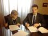 Il vice prefetto vicario reggente Iaci e il sindaco di Montesilvano Maragno, firmano il protocollo d'intesa