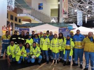 I volontari della Misericordia di Pescara insieme ai Vigili del fuoco volontari di Montesilvano