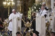 Papa Francesco insieme al Rabbino capo di Roma Riccardo Di Segni