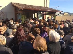 """Centinaia di fedeli hanno gremito la Cittadella dell'accoglienza """"Giovanni Paolo II"""", all'apertura della Porta santa"""