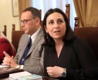Il consigliere comunale Leila Kechoud con il sindaco Alessandrini