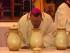 Monsignor Tommaso Valentinetti, arcivescovo di Pescara-Penne, consacra gli olii santi