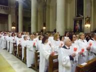 I 170 neocatecumenali che hanno rinnovato le proprie promesse battesimali