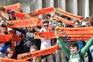 Un gruppo di ragazzi giunto in piazza San Pietro