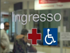 L'ingresso di un presidio ospedaliero