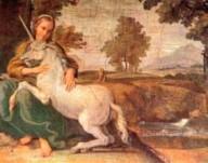 Vergine e unicorno, Domenichino (1581-1641). Palazzo Farnese, Roma.