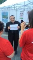 Mons. Tommaso Valentinetti, arcivescovo di Pescara-Penne, intervistato dalle operatrici Caritas
