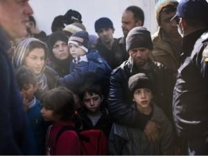 Migranti e rifugiati al confine tra Grecia e Macedonia