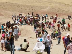 Profughi siriani in cammino verso l'Europa