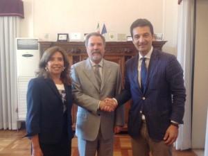 L'incontro tra il Prefetto di Pescara Francesco Provolo ed il sindaco di Montesilvano Francesco Maragno
