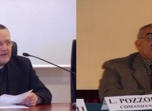 L'arcivescovo di Pescara-Penne, monsignor Tommaso Valentinetti e l'ambientalista Giovanni Damiani