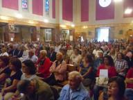 Gli 800 convegnisti, ieri mattina, durante la messa finale nella chiesa dello Spirito Santo