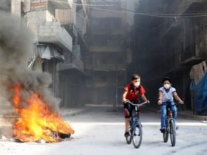 Un quartiere di Aleppo, dopo l'ennesimo scontro militare