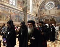 Alcuni dei 500 leader religiosi presenti ad Assisi