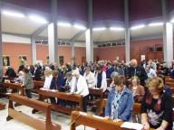 Nutrita la partecipazione dei fedeli, nella parrocchia di Santa Caterina da Siena