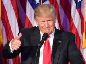 Il 45° presidente eletto degli Stati Uniti d'America, Donald Trump