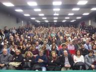 L'Auditorium Giovanni Paolo II gremito dai cittadini