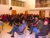 I presenti all'incontro nella parrocchia di San Giovanni Battista e San Benedetto
