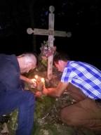 Un momento di preghiera a Sape