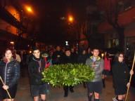 La processione cittadina, presieduta dall'arcivescovo Valentinetti, verso la Madonnina