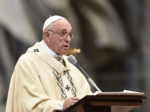Papa Francesco presiede la Santa messa nella solennità dell'Epifania
