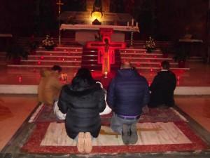 Lo preghiera svolta con il rito della Comunità di Taizè