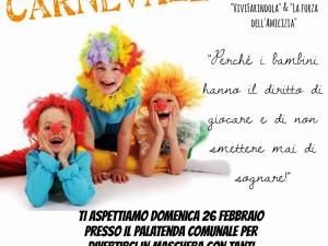 La locandina della Festa di Carnevale