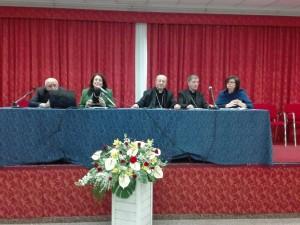 Il tavolo dei relatori, durante le conclusioni del Convegno regionale delle Chiese d'Abruzzo e Molise