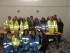 Un gruppo di volontari della Misericordia di Pescara con, al centro, il governatore Berardino Fiorilli