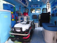 L'allestimento interno dell'ambulanza