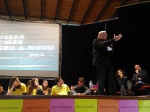 L'intervento di don Luigi Ciotti ieri a Pescara